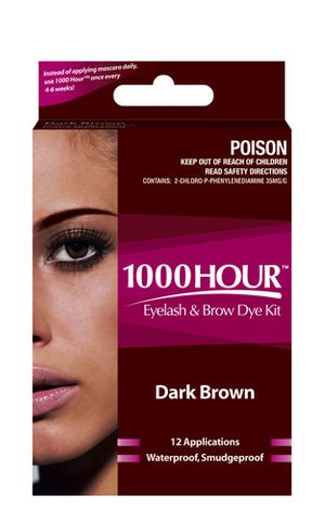 1000 Hour Eyelash Dye Kit Dark Brown