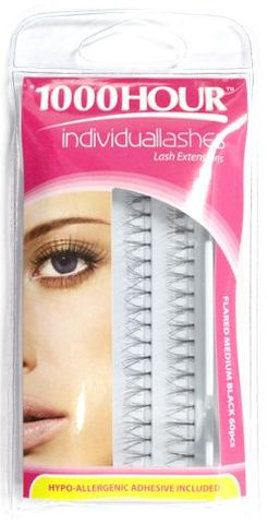 1000 Hour Lashes Flared Medium Blk 60pcs