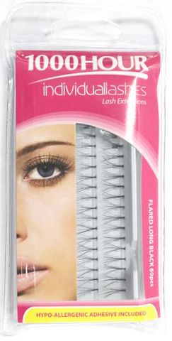 1000 Hour Lashes Flared Long Blk 60pcs