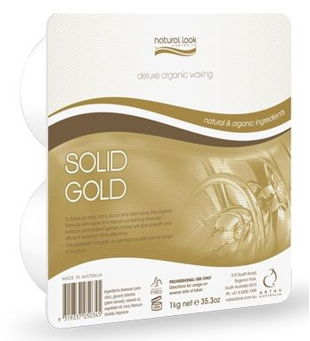 Natural Look Organic Gold Solid Wax 1k
