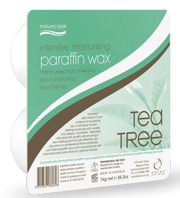 Natural Look Tea Tree Paraffin Hard Wax 1k