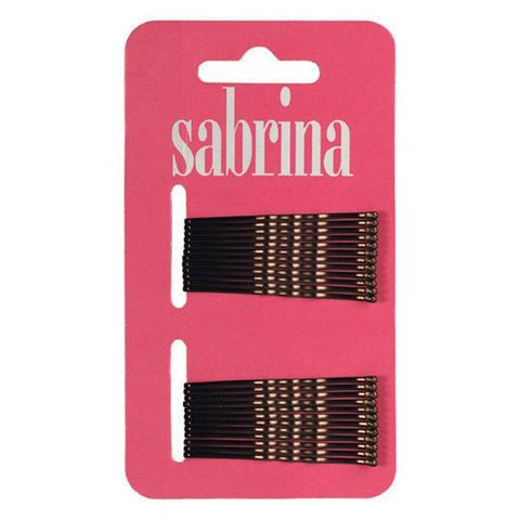 Sabrina Bobby Pins Brown On Card Pk