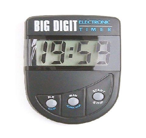 Timer Big Digit Black Dateline