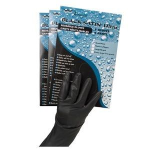 Dannyco Black Satin Ultra Gloves XL 4 Pk