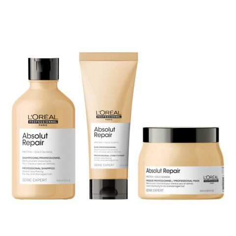 Loreal Absolut Repair Trio - Shampoo, Conditioner and Treatment