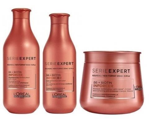 Loreal Inforcer Trio - Shampoo, Conditioner and Treatment