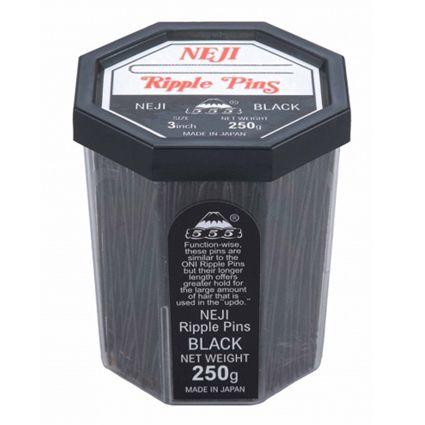 555 Neji Ripple Pins Black 3 inch