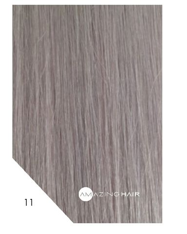 Amazing Hair 20 inch TAPE Extensions Silver #11 SLIM 20pc