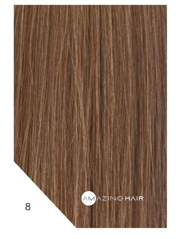 Amazing Hair 20 inch TAPE Extensions Dark Blonde #8 SLIM 20pc