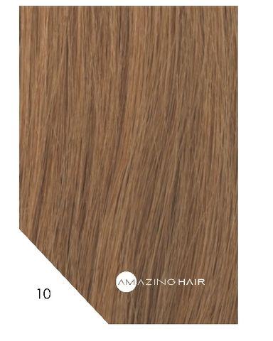 Amazing Hair 20 inch TAPE Extensions Light Caramel #10 SLIM 20pc