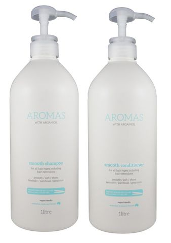 NAK Aromas Argan Smooth Shampoo and Conditioner Duo 1L