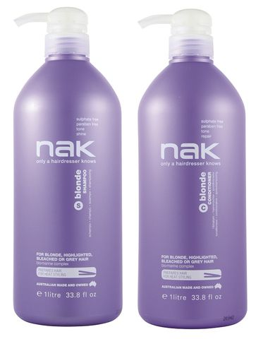 NAK Blonde Shampoo and Conditioner Duo 1L