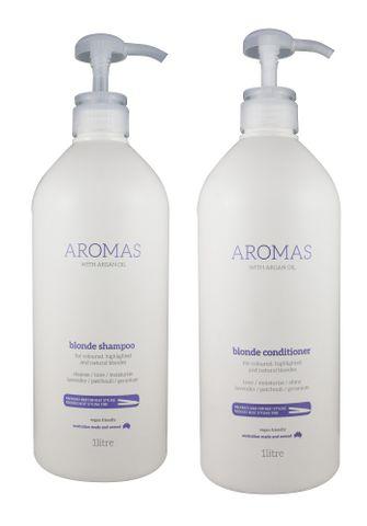 NAK Aromas Argan Blonde Shampoo and Conditioner Duo 1L