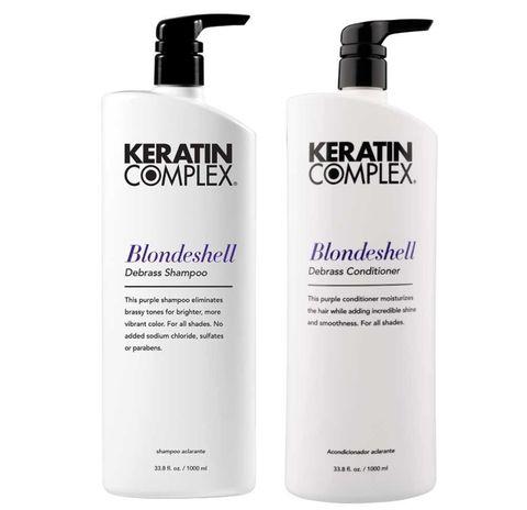 Keratin Complex Blondeshell Shampoo & Conditioner 1L DUO