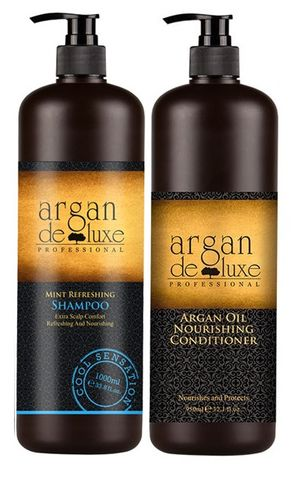 Argan De Luxe Mint Shampoo and Conditioner Duo 1L