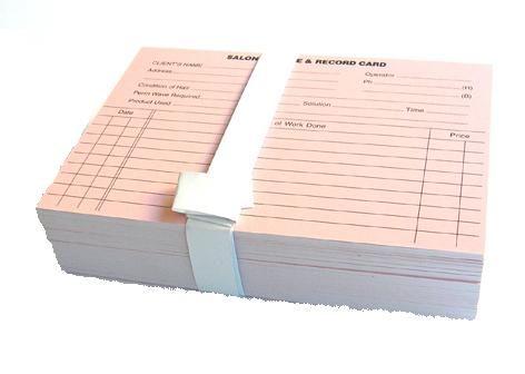 Customer Record Cards 100