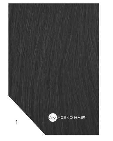 Amazing Hair 20 inch TAPE Extensions Black #1 SLIM 20pc