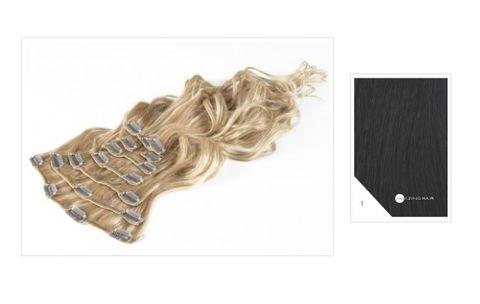 Amazing Hair 20 inch CLIP-IN Extensions Black #1 10pc set