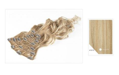 Amazing Hair 20 inch CLIP-IN Extensions Lightt Blonde Light Caramel 10pc set