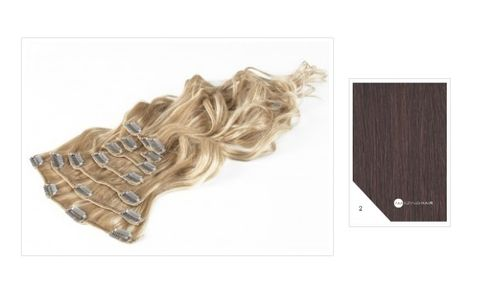 Amazing Hair 20 inch CLIP-IN Extensions Chocolate Brown #2 10pc set