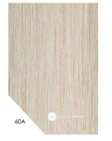 Amazing Hair 20 inch TAPE Extensions Platinum Blonde #60A SLIM 20pc