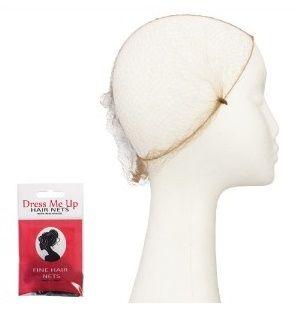 Dress Me Up Fine Hair Net  Light Brown 2pk 135956