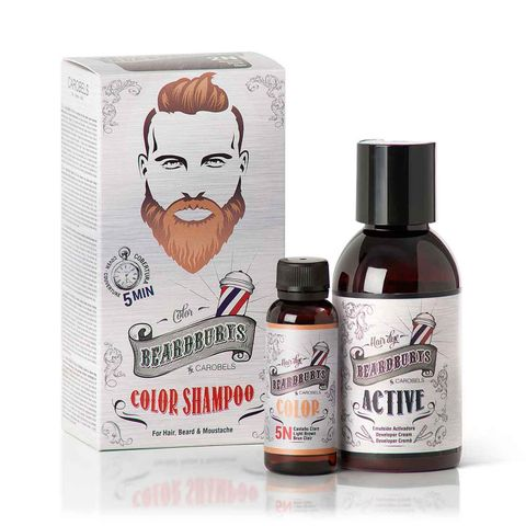 Beardburys Colour Shampoo 5N Lt Brown