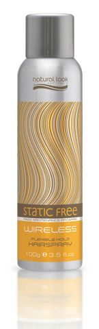 Natural Look Static Free Wireless Flexi Hold Hair Spray 100g