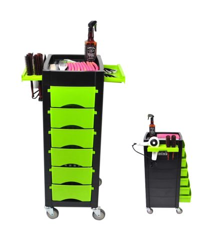 Koza Salon 6 Draw Trolley Green