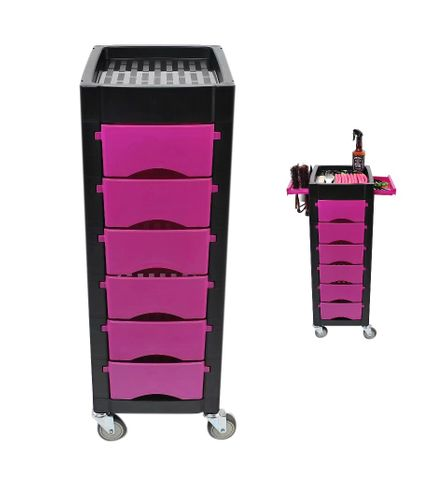 Koza Salon 6 Draw Trolley Purple