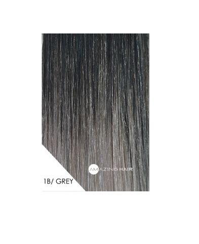 Amazing Hai 20 inch TAPE Extensions OMBRE Grey / Black #1B 10pc