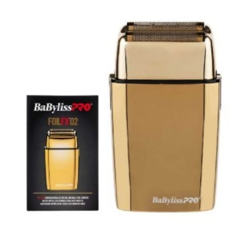 Babyliss PRO GoldlFX02 Metal Double Foil Shaver - Australian Stock