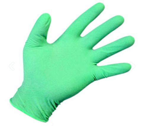 Majestic Disposable Nitrile Gloves Green Large 100in