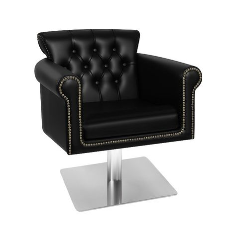 Glammar Avery Salon Chair  -  Black  -  Square Base