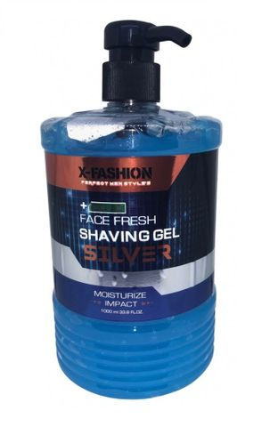 X-Fashion Face Fresh Shaving Gel Silver 1kg
