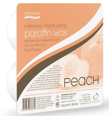 Natural Look Peach Paraffin Wax Hard 1kg