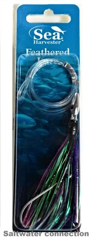 SEA HARVESTER SKIPPY LURE FEATHER BLACK/PURPLE