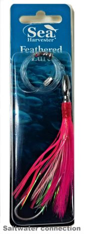 Sea Harvester Skippy Lure Feather Pink/White