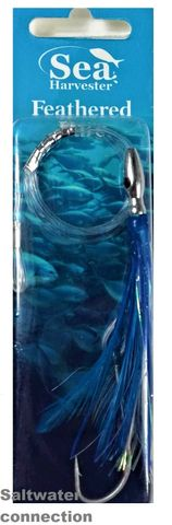 SEA HARVESTER SKIPPY LURE FEATHER BLUE/WHITE