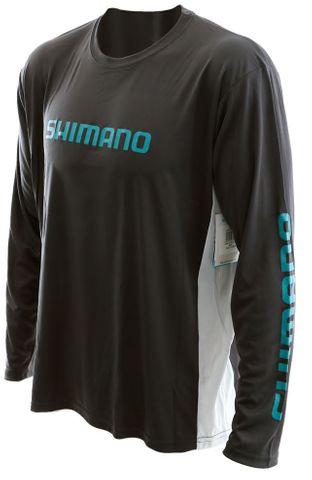 Shimano Long Sleeve Tech Tee Med - Carbon