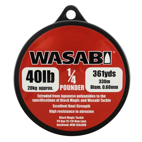 Wasabi 1/4Lb Spool 40Lb, 361 Yards