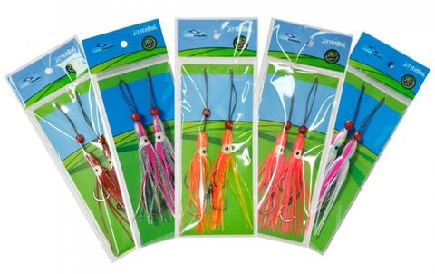 Ocean Angler Jitterbug Twin Hook Pack 2.5 Hot Pink