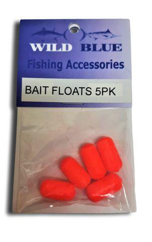 Bait Rig Floats Flouro/ Red 3/8 x 3/4 5 Pk