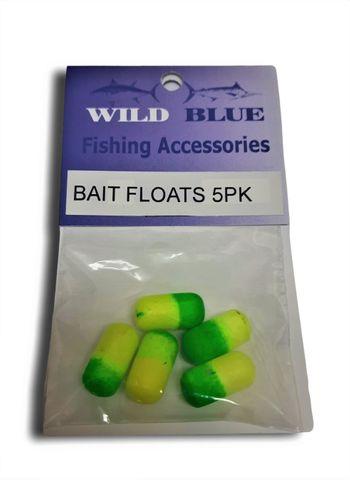 Bait Rig Floats Green/ Yellow 3/8 x 3/4 5 Pk
