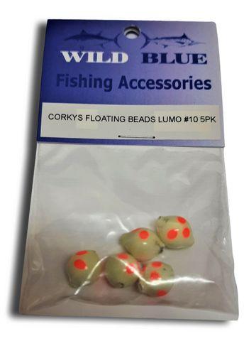 Corkeys Floating Beads Lumo #10 5 Pk