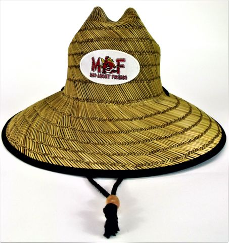 Mad About Fishing Straw Hat (Adult size)