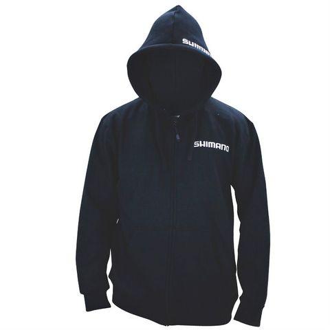 Shimano Black Zip Up Hoodie 3Xl