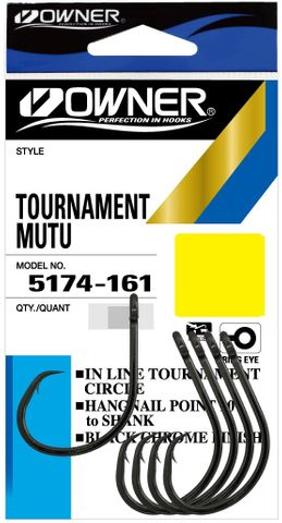 Owner Mutu Tournament Hooks 8/0