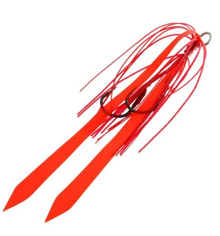 Ocean Angler Slider Skirt Twin Hook Pack Red