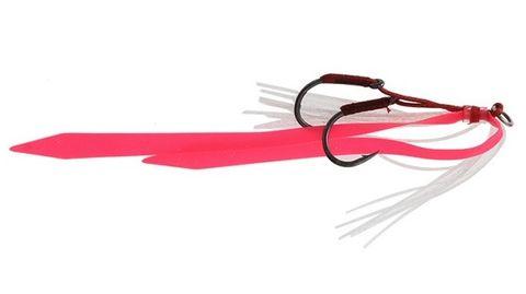 Ocean Angler Slider Skirt Twin Hook Pack Pink White